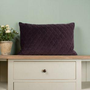 Quilted Velvet Purple Cushion