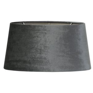 Graphite Elliptical Velvet Lampshade 35cm