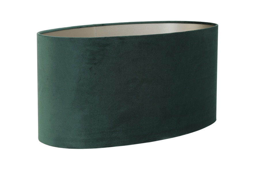 Dutch Green Velour Oval Lampshade 45cm