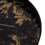 Dania Black Wooden Tray with Bronze Glass