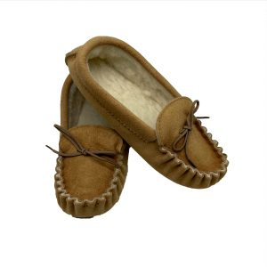 Moccasin Ladies Suede Slipper