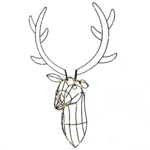 Stag Head Wall Light
