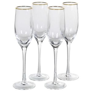 Ribbed Champagne Flute