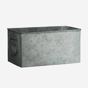 Rectangular Galvanised Planter with Handles