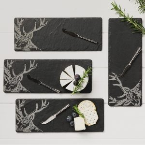 mini highland cow slate cheese boards