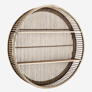 Round Natural Bamboo Shelf