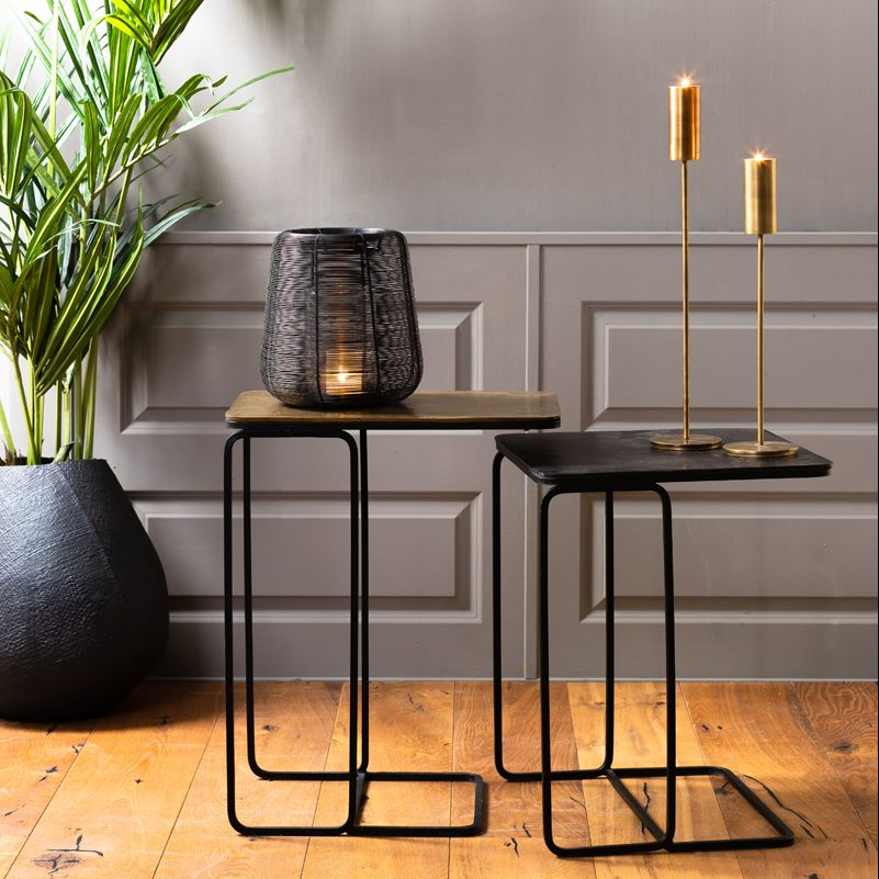 Side Nesting Tables Copper & Bronze