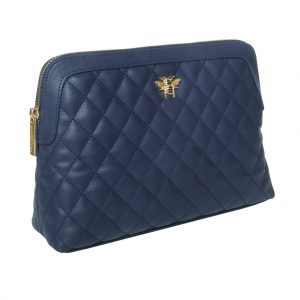 Navy Quilted Bee Beauty Case