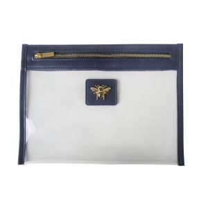 Navy Beauty Bee Travel Pouch