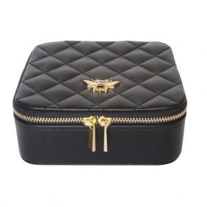 Black Bee Quilted Jewellery Box