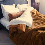 Velvet Ochre Bedspread