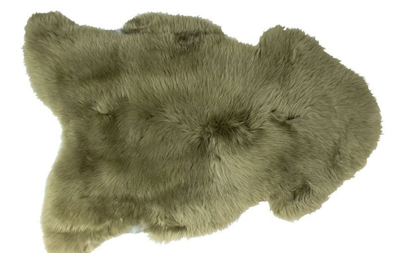 Silky Sheepskin Sage Large