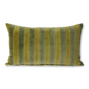 Stripped Green/Camo Velvet Cushion