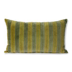 Stripped Green/Camo Velvet Cushion