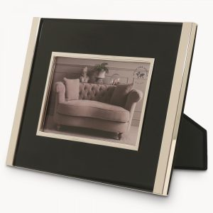 Ashgrove Chrome Photo Frame Black Inlay