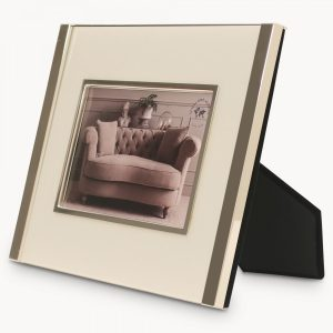 Ashgrove Chrome Photo Frame White Inlay