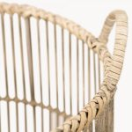 Natural Bamboo Basket/Planter with Legs