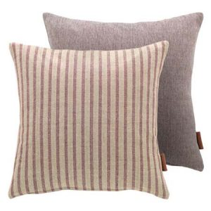 Heather Striped Cotton Square Cushion