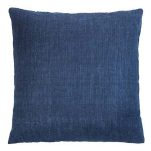 Heaven Blue Linen Square Cushion