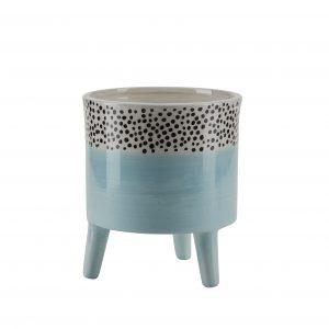 Standing Ceramic Aqua Pot