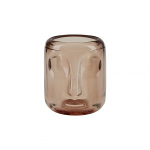Rose Glass Face Handcrafted Candle Holder