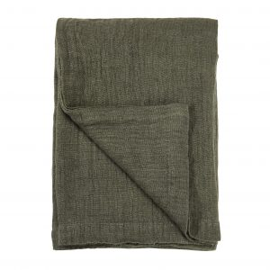 Olive Linen Bedspread 260x280cm