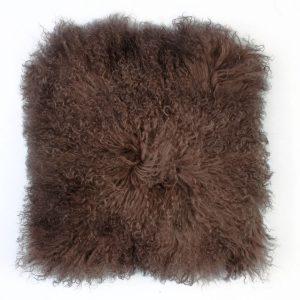 Tibetan Sheepskin Cushion Adobe
