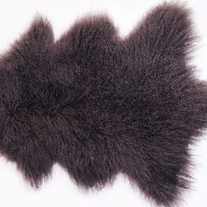 Aubergine Tibetan Sheepskin Rug