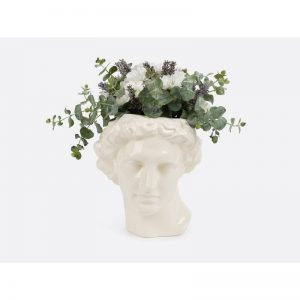 Apollo White Ceramic Vase