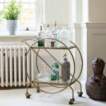 Avondale Antique Brass Drinks Trolley