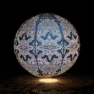 Navy Solar Globe Lantern