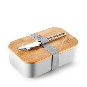 Maneki Neko Grey Lunchbox