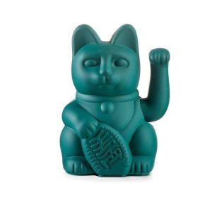 Green Waving Lucky Cat