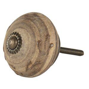 Brass & Antique Wooden Knob
