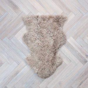Curly Sheepskin Rug Beige Medium