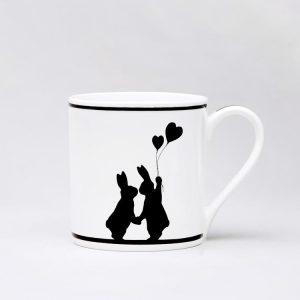 Love Struck Rabbit Mug
