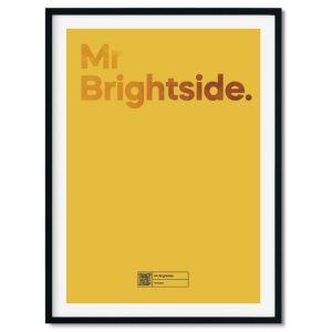A unique lyric poster that plays your special song 'Mr Brightside' by The Killers