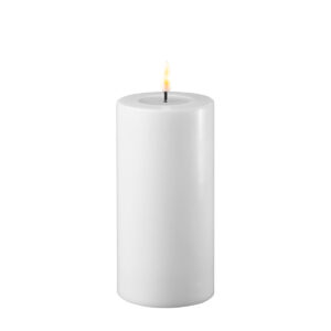 Battery Operated LED Candle 7.5x15cm White