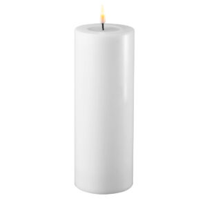 Battery Operated LED Candle 7.5x20cm White