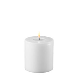 Battery Operated LED Candle 10x10cm White