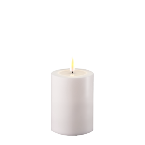 Outdoor Battery Operated LED Candle 7.5x10cm White