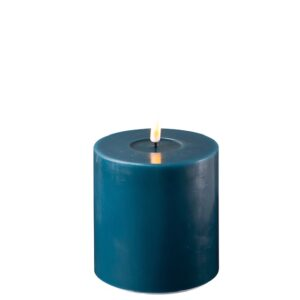 Battery Operated LED Candle 10x10cm Petrol