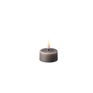 Pack of 2 Battery Operated LED Tea Lights Grey