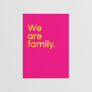 We Are Family Greetings Card