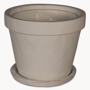 Large Birkdale Stone Planter with Saucer