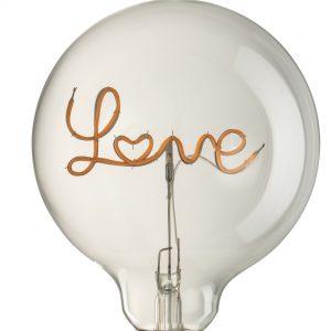 Love LED Transparent Bulb