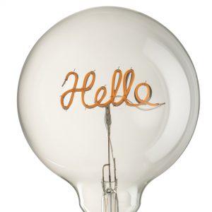 Hello LED Transparent Bulb