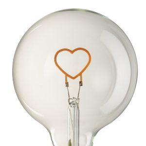 Heart LED Transparent Bulb