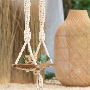 Natural Wood & Rope Swing