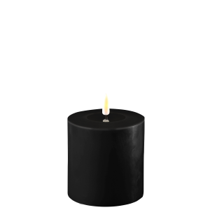 Battery Operated LED Candle 10x10cm Black